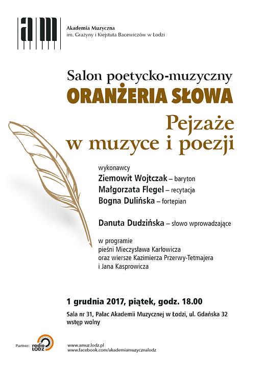 Oranżeria Słowa Salon Poetycko Muzyczny Pejzaże W Muzyce I