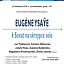 Sonaty na skrzypce solo Eugene Ysaye'a w Uniwersytecie Muzycznym