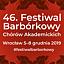 Chór NFM – koncert inauguracyjny 46. Festiwalu Barbórkowego Chórów Akademickich