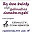 """""""Są dwa światy, czyli galimatias damsko-męski"""" - program Kabaretu Czarna rękawiczka w ramach Tygla Teatralnego"""