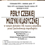Perły czeskiej muzyki klasycznej
